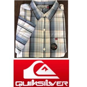 NWT Quicksilver Button Front Slim-fit Shirt